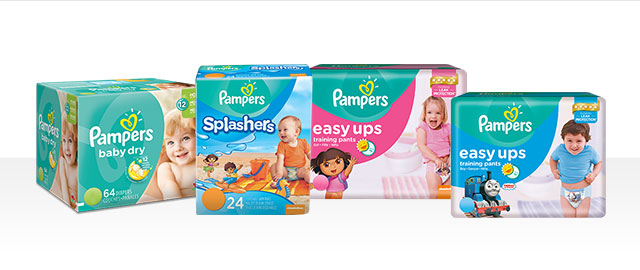 Couches Pampers® Baby Dry, Easy Ups ou Maillots de bain Splashers coupon
