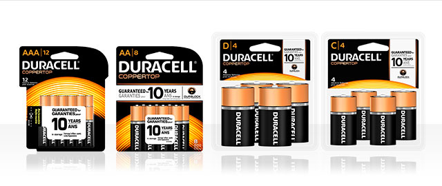Duracell® battery packs coupon