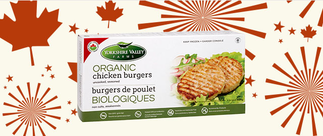 Yorkshire Valley Farms Organic Chicken Burgers coupon