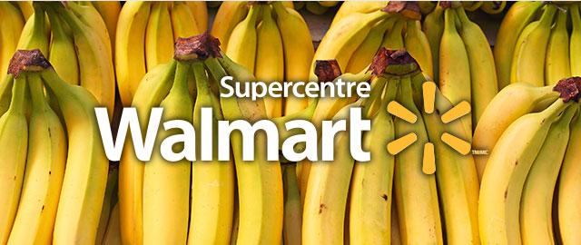 Chez Walmart: Bananes coupon
