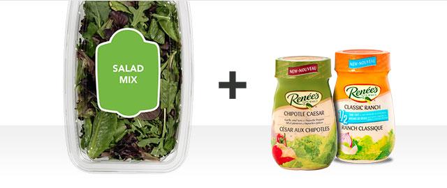 Combo: 2 Renée's Salad Dressing + 1 Salad Greens coupon