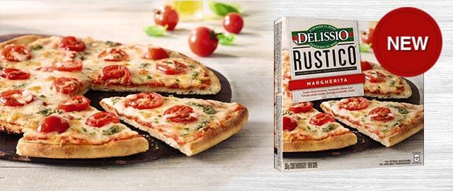 DELISSIO® RUSTICO™ Margherita Frozen Pizza coupon