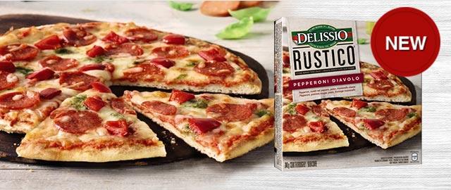 DELISSIO® RUSTICO™ Pepperoni Diavolo Frozen Pizza coupon