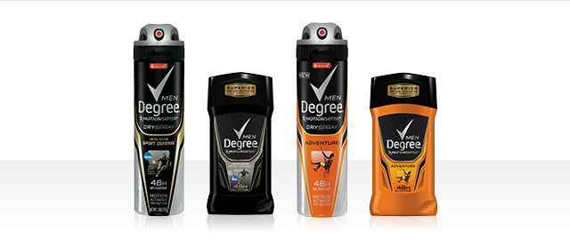 At Walmart: Degree Men MOTIONSENSE Stick or Dry Spray Antiperspirant coupon