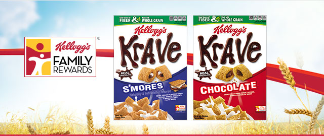 Buy 2: Kellogg's® Krave® Cereals coupon