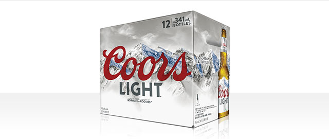 Coors Light 12 x 341mL bottles* coupon