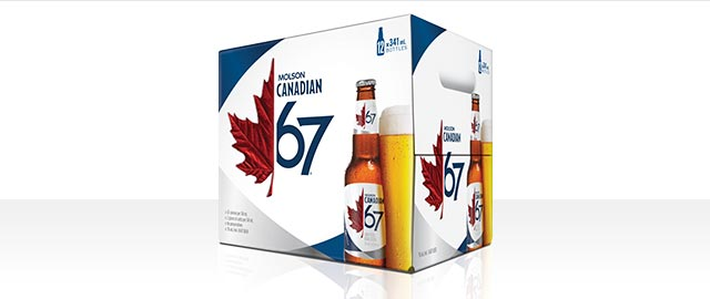 Molson Canadian 67 12 x 341 mL* coupon