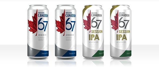 Buy 4: Molson Canadian 67 or Molson Canadian 67 IPA 473 mL* coupon