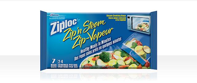 Ziploc® Zip-VapeurMC Sacs pour cuisson à la vapeur coupon