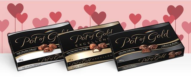 Certaines boîtes de chocolats POT OF GOLD coupon