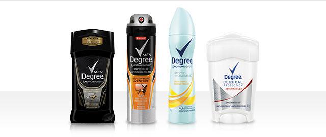Degree® anti-perspirant or deodorant coupon