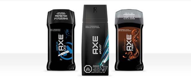 AXE dry spray or antiperspirant stick  coupon