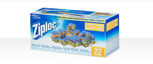 Chez certains détaillants: Assortiment de 22 contenants Ziploc® coupon