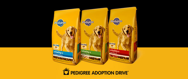 PEDIGREE VITALITY+ ™ Food for Dogs coupon