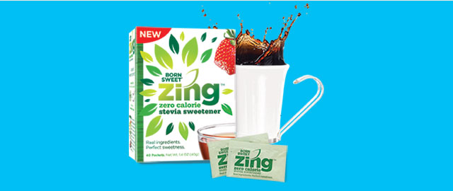 At Walmart: Born Sweet® Zing™ Zero Calorie Stevia Sweetener  coupon