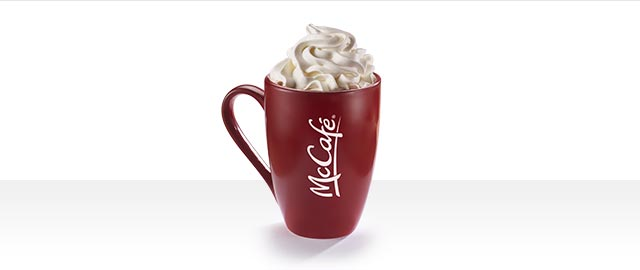 At McDonald's® in Walmart: McCafé® Peppermint Hot Chocolate coupon