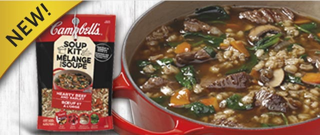 Campbell's® Hearty Beef and Barley Soup Kit coupon