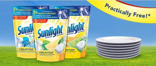 Sunlight® Dishwasher Pacs coupon