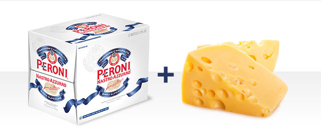 At Select Retailers Combo: Peroni Nastro Azzurro® and Cheese coupon