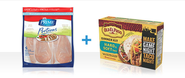 COMBO: Maple Leaf® Prime® Fresh or Ground Chicken or Turkey + Old El Paso™ Dinner Kits coupon