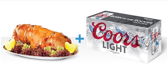 At Select Retailers Combo: Coors Light + Pork coupon
