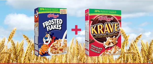 COMBO: Kellogg's Frosted Flakes* + Kellogg's* Krave™ Cereal coupon