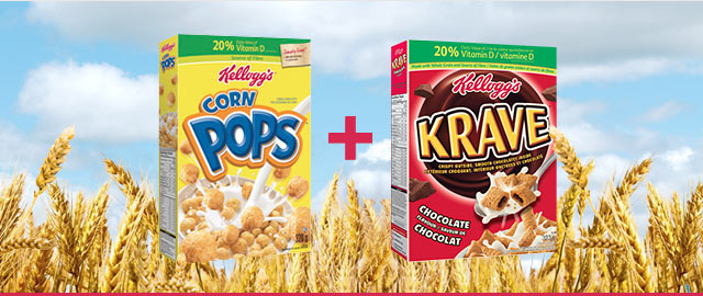 COMBO: Kellogg's Corn Pops* Cereal + Kellogg's* Krave™ Cereal coupon