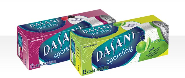Dasani Sparkling® water 12-pack cans coupon