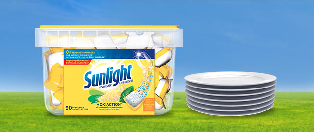 At Walmart: Sunlight® Dishwasher 90 pacs size coupon