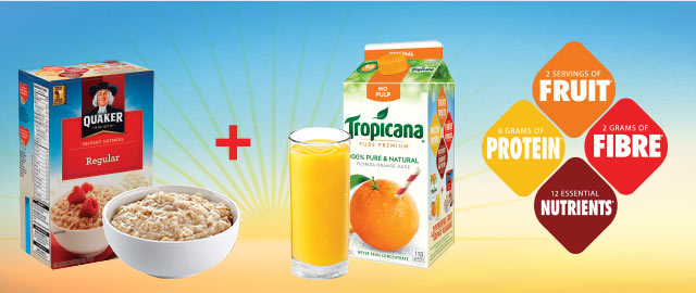 COMBO: Select Quaker® Oats + Select Tropicana® products  coupon