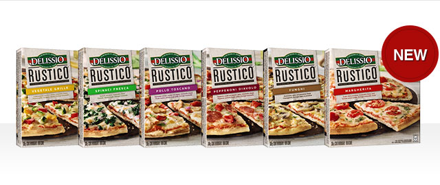 Buy 2: DELISSIO RUSTICO™ Frozen Pizza coupon