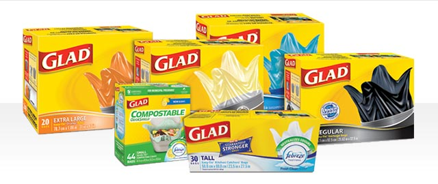Select GLAD® Garbage Bags coupon