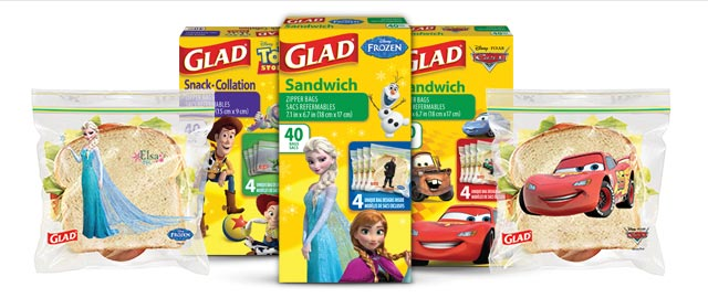 Buy 2: GLAD® Disney® Food Bags coupon
