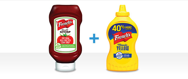 Combo: At Walmart: French's Mustard + French's Ketchup coupon