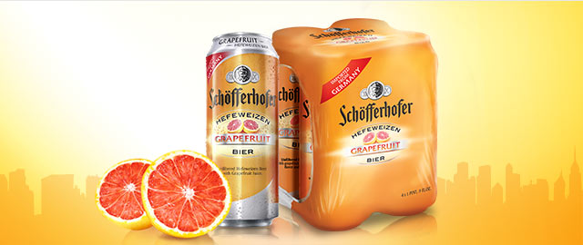 Schofferhofer Grapefruit 4-pack cans coupon