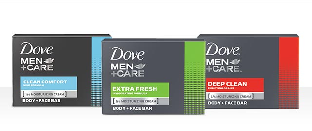 Dove Men+Care® body and face bar coupon