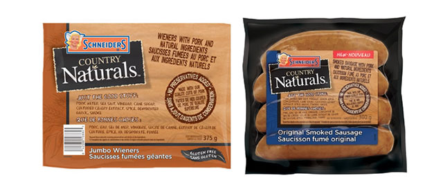 Schneider's Country Naturals hot dogs and sausages coupon