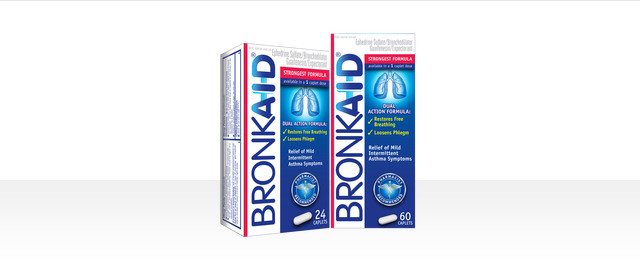 Bronkaid® Dual Action Asthma caplets coupon