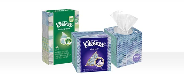 Buy 2: Kleenex® Brand facial tissue products coupon