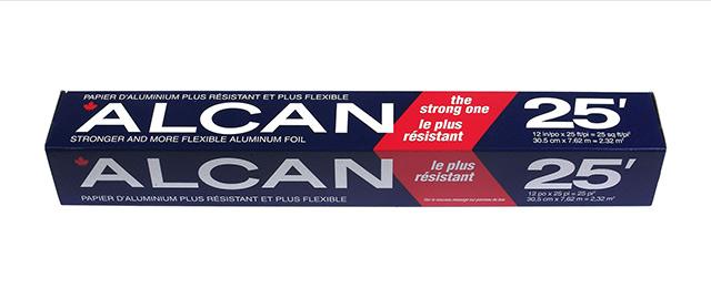 Alcan aluminium foilwrap coupon
