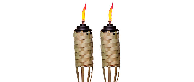 At Walmart: Buy 2: TIKI® Brand Luau Bamboo Easy Pour Torches coupon