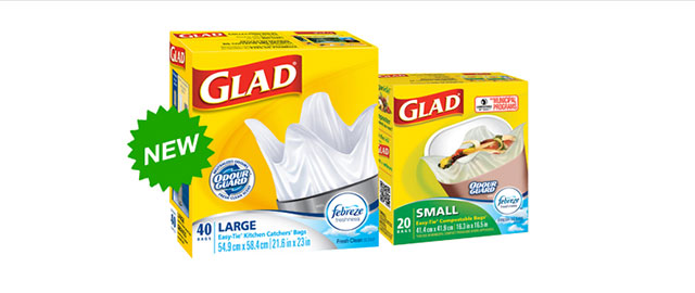 Glad® Odour Guard® bags with Febreze Freshness™ coupon