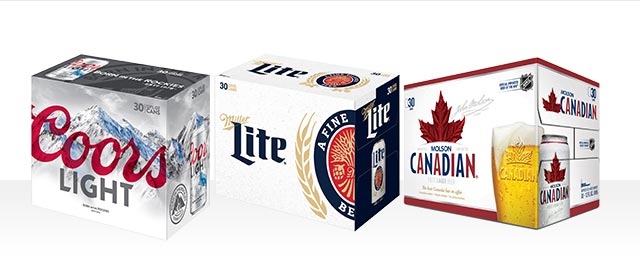 Coors Light, Miller Lite or Molson Canadian 30-pack coupon