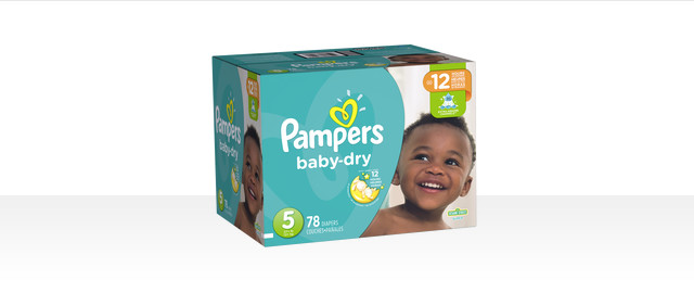 At Select Retailers: Pampers® Baby Dry boxed diapers coupon