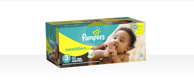 At Select Retailers: Pampers® Swaddlers boxed diapers coupon