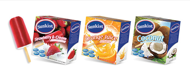 Sunkist Frozen Fruit Sorbet Bars  coupon