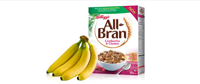 Kellogg's All-Bran* Cereal + Bananas coupon