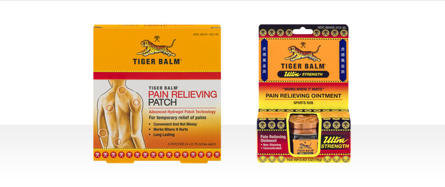 Tiger Balm Pain Relieving Ointment or Patch coupon