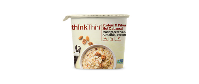 thinkThin® Protein & Fiber Hot Oatmeal bowls coupon