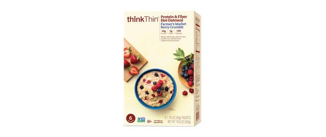 thinkThin® Protein & Fiber Hot Oatmeal boxes coupon